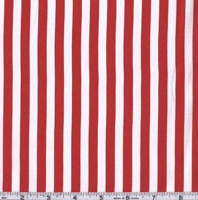 Charmeuse Satin Stripe Red/White