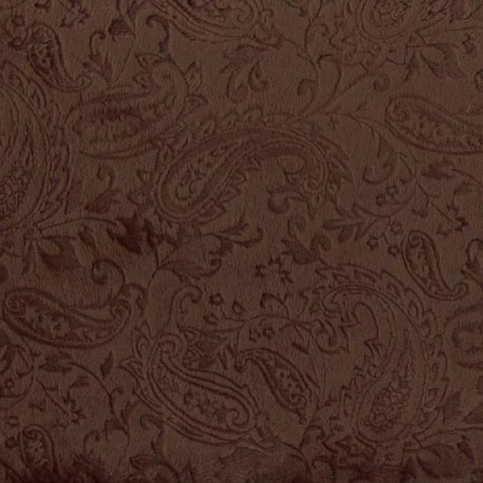 Shannon Minky Embossed Paisley Cuddle Brown