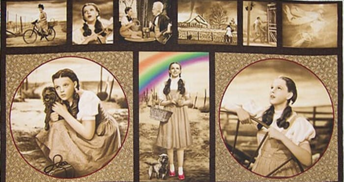 Wizard of Oz Panel Dorothy Antique