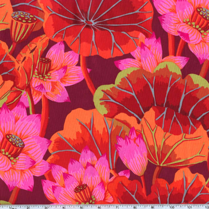 Kaffe Fassett Lake Blossoms Red