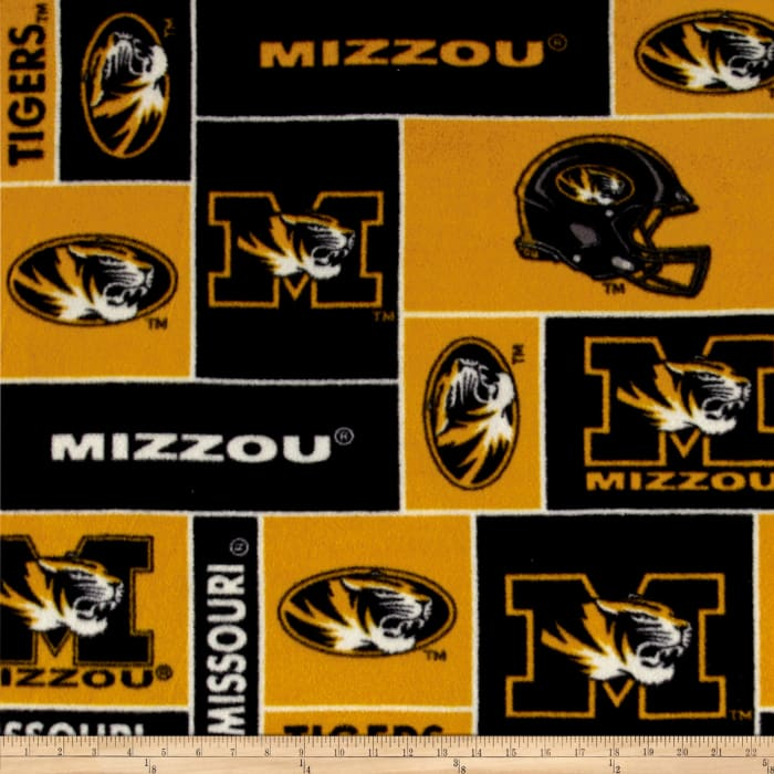 Collegiate Fleece University of Missouri Blocks Black/Gold