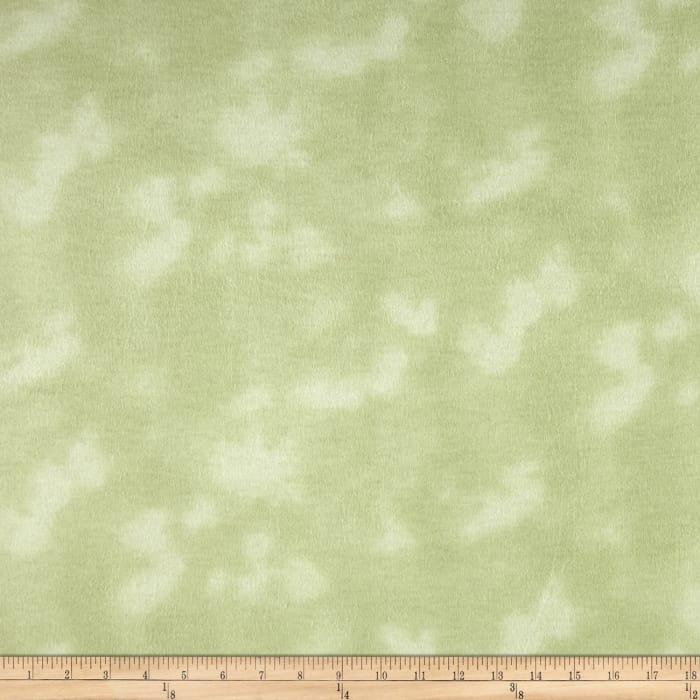 108'' Wide Mottled Flannel Light Mint