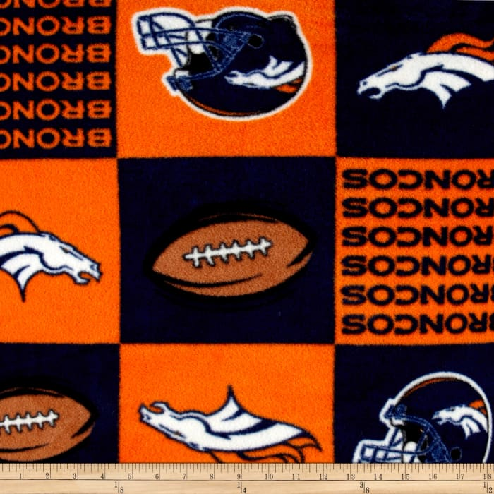 NFL Fleece Denver Broncos Squares Orange