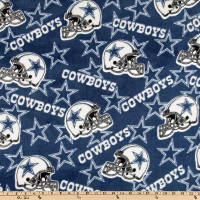 home decor fabric dallas nfl fleece dallas cowboys toss blue white 10979