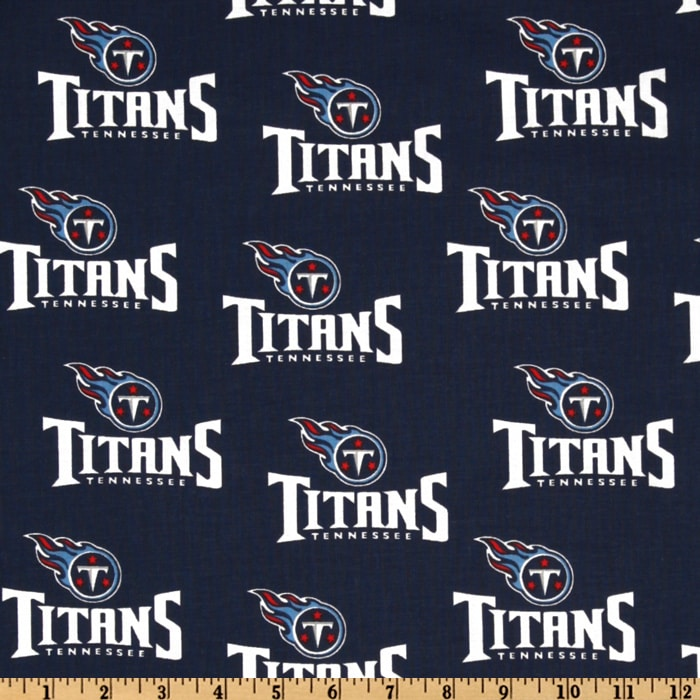 NFL Cotton Broadcloth Tennessee Titans Navy/White