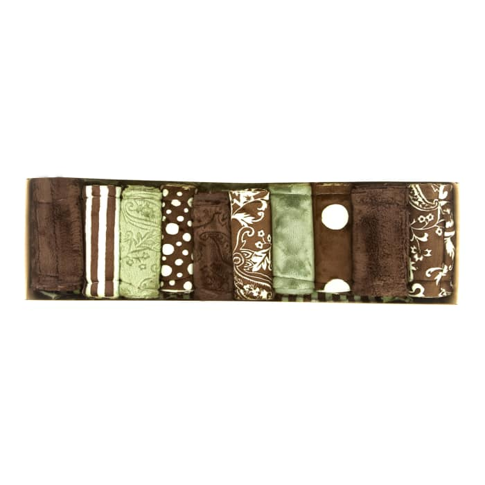 Cuddle Strip Quilt Adult Kit w/Pattern Olive/Brown