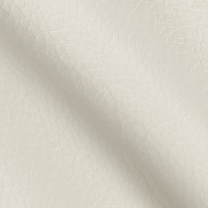 Faux Leather Fabric Calf White