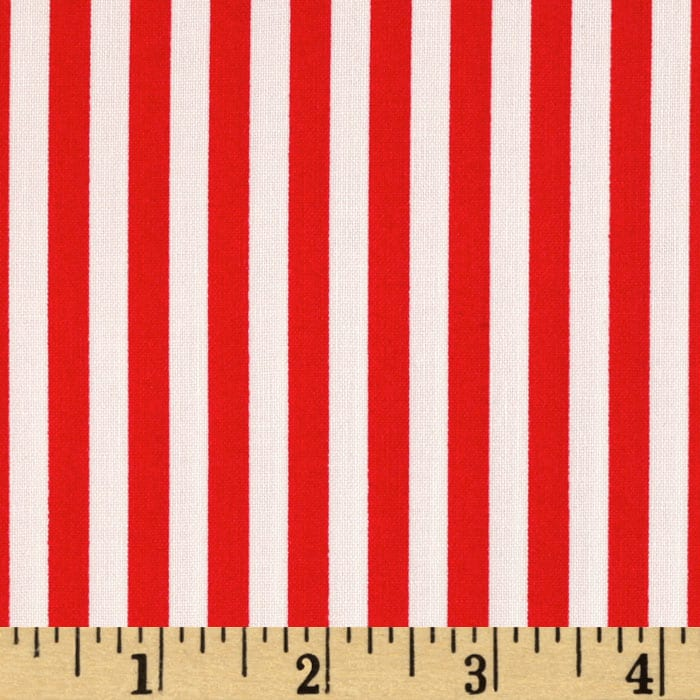 Michael Miller Clown Stripe Red