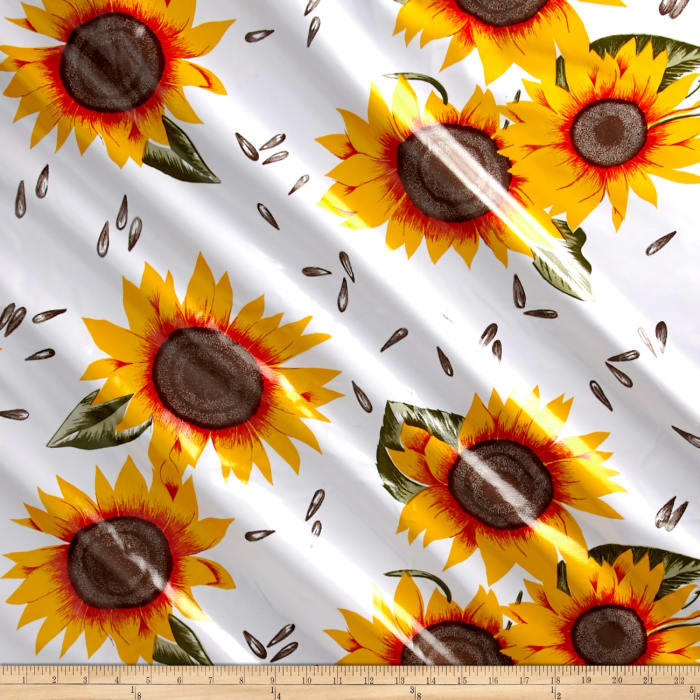 Oilcloth Sunflower Yellow/White
