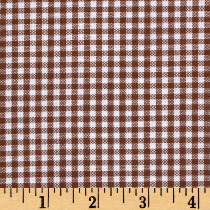 Kaufman 1/8'' Carolina Gingham Chocolate