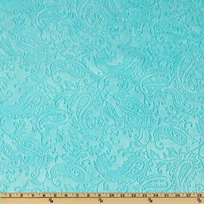 Shannon Minky Embossed Paisley Cuddle Topaz