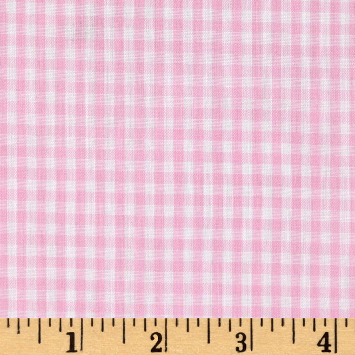 Woven 1/8'' Gingham Pink