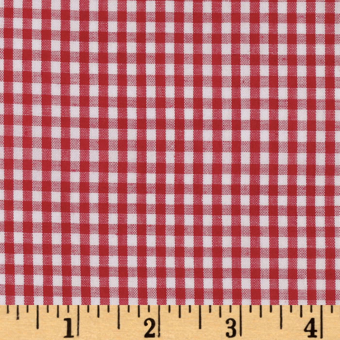Woven 1/8'' Gingham Red