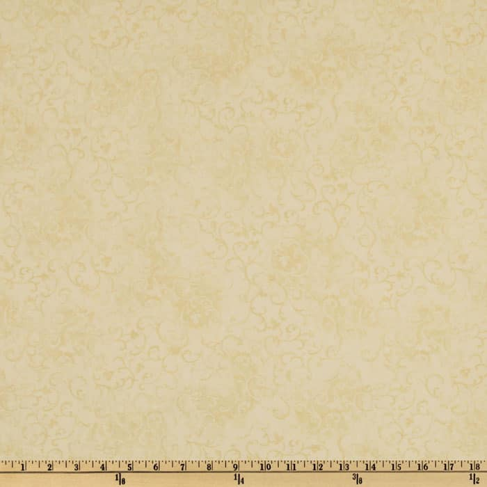 "108"" Wide Essentials Quilt Backing Scroll Cream"