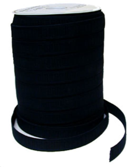 1'' Black No-Roll Elastic