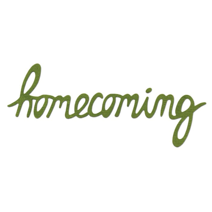 Sizzix Sizzlits Die Phrase, Homecoming Medium