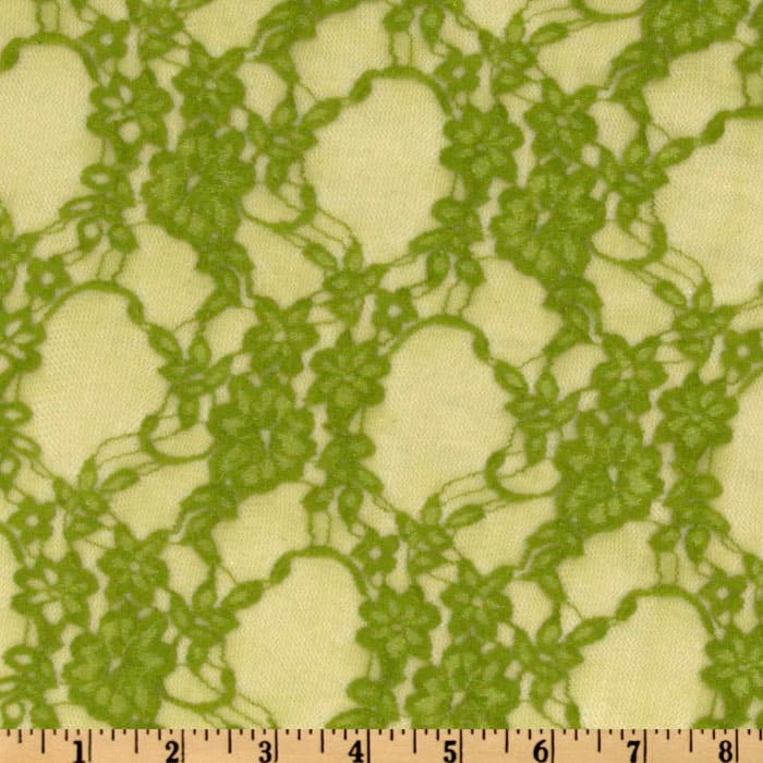 Giselle Stretch Floral Lace Avocado