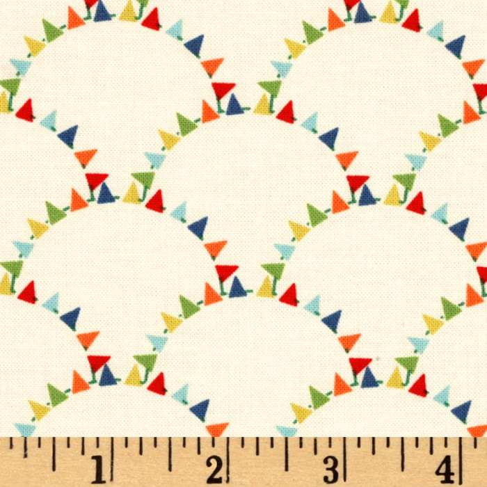 Michael Miller Mini Mikes Bunting Scallop Retro