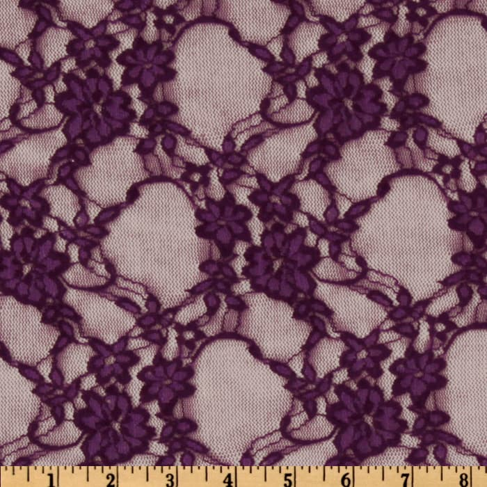 Giselle Stretch Floral Lace Plum