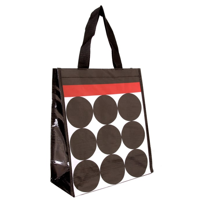 Insta-Totes Shopping Tote Stripes & Dots With Red Stripe