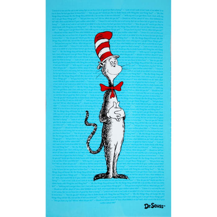 The Cat In The Hat Flannel Panel Bright