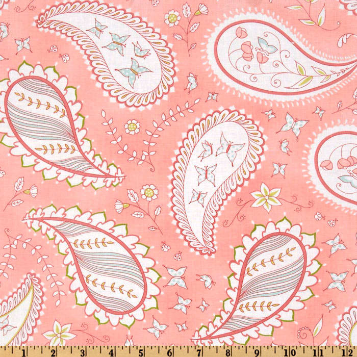 Michael Miller Bella Butterfly Pretty Paisley Pink