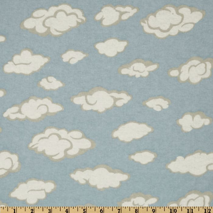 Flannel Clouds Blue