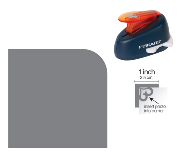 Fiskars Corner Lever Punch Small Cutting Radius