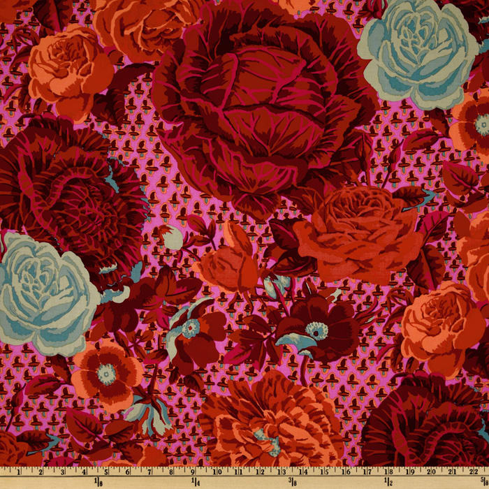 Kaffe Fassett Spring 2012 Collective Cabbage Rose Fuchsia