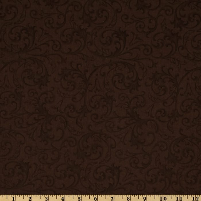 "Baroque 108"" Quilt Backing Flourish Brown"