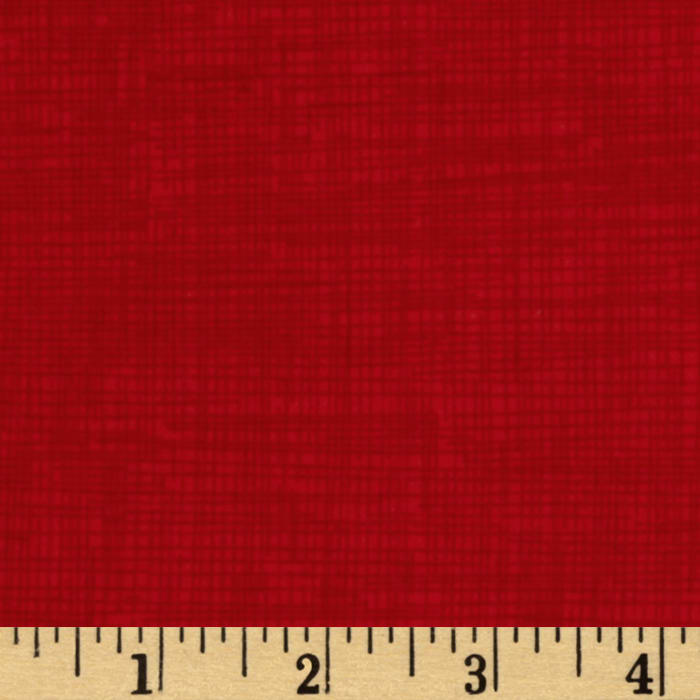 Timeless Treasures Sketch Flannel Red