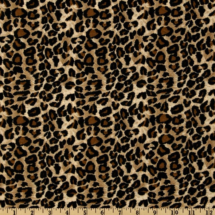 Large Cheetah Tan/Black