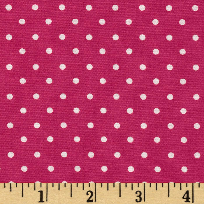 Pimatex Basics Mini Dot Hot Pink/White