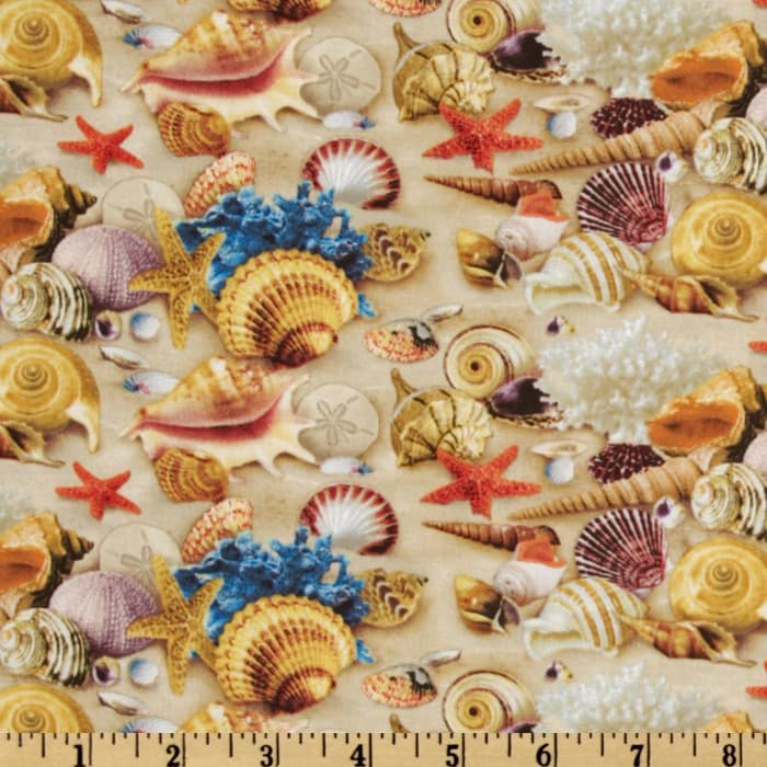 Children of the sea ii shells sand discount designer for Children of the sea fabric