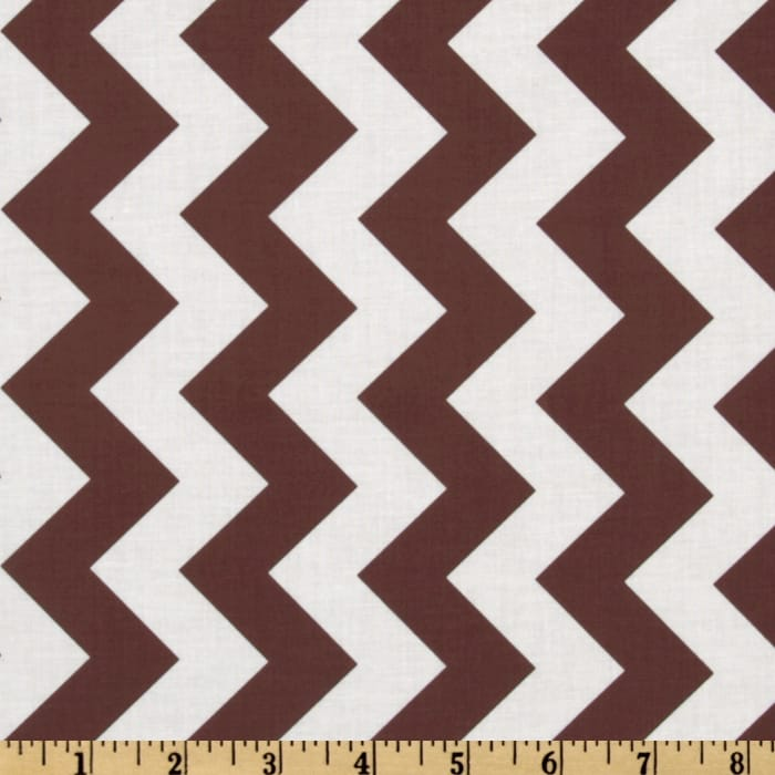Riley Blake Chevron Medium Brown