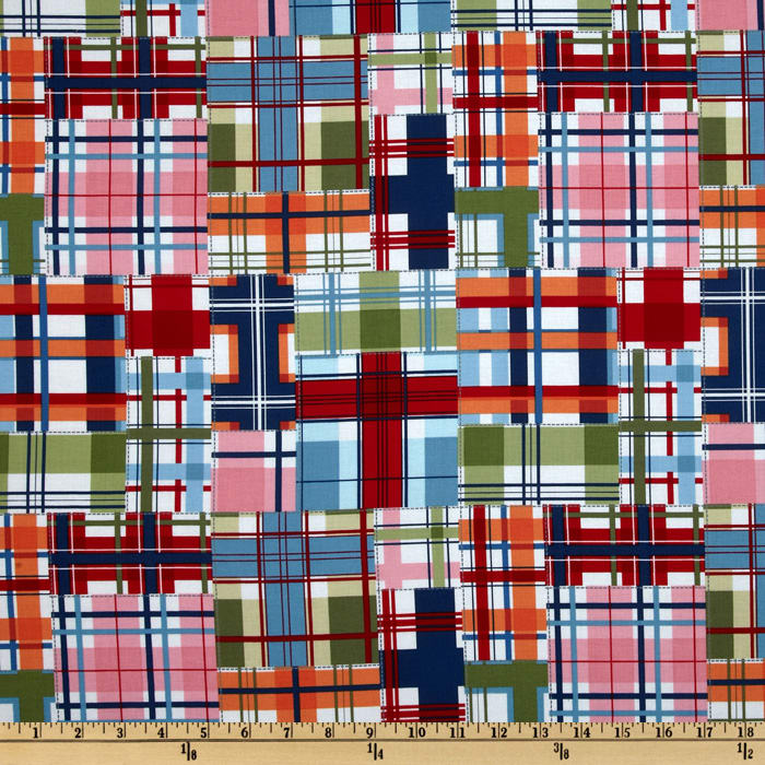 Michael Miller Shore Thing Madras Patch Seaside Multi