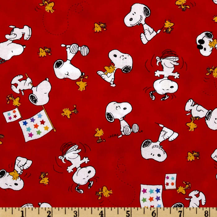 Peanuts-Project Linus Snoopy & Woodstock Toss Red