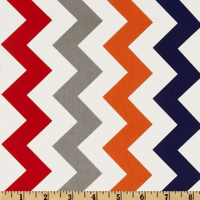 Riley Blake Chevron Medium Red/Boy