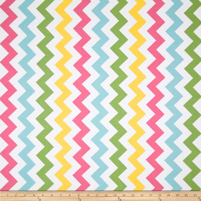 Riley Blake Chevron Medium Pink/Girl
