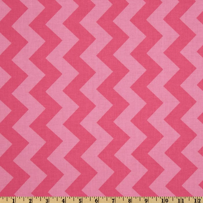 Riley Blake Chevron Medium Tonal Hot Pink