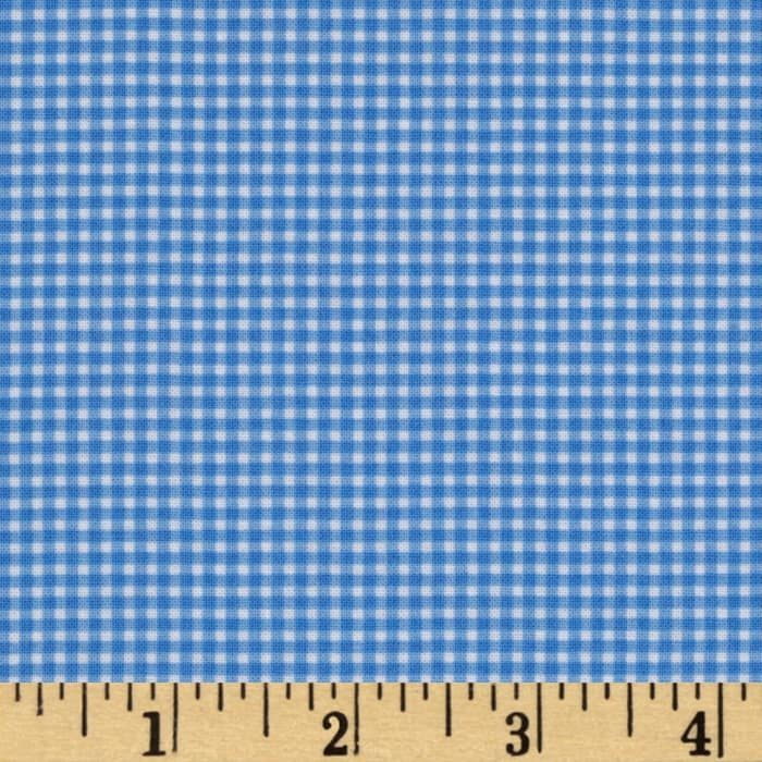 Michael Miller Mini Mikes Tiny Gingham Blue