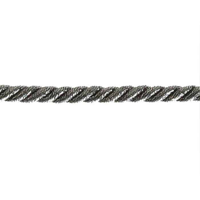 "Expo 1/4"" Noel Twisted Cord Trim Black/Silver"