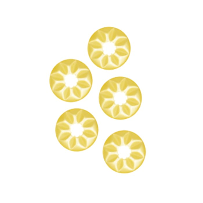 Fashion Button 1/2'' Flower Cuts Yellow
