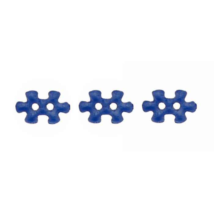 Novelty Button 5/8'' Puzzled Blue