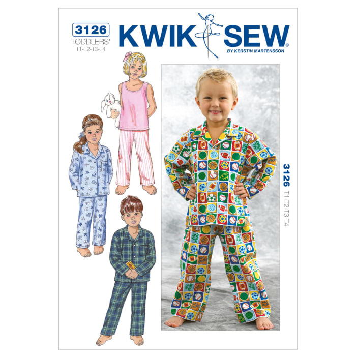 Kwik Sew Toddlers' Sleepwear Pattern