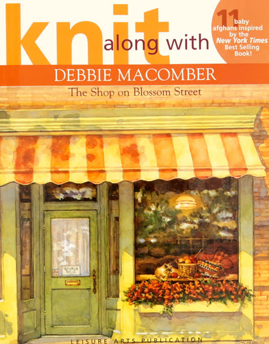 """Leisure Arts Knit Along with Debbie Macomber """"The Shop on Blossom Street"""" Book"""