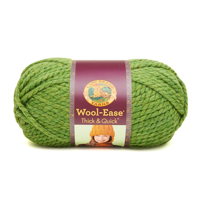 Lion Brand Wool-Ease Thick & Quick Yarn (131) Grass