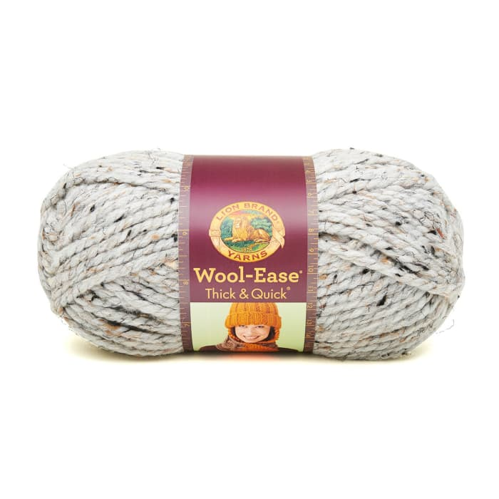 Lion Brand Wool-Ease Thick & Quick Yarn (154) Grey Marble