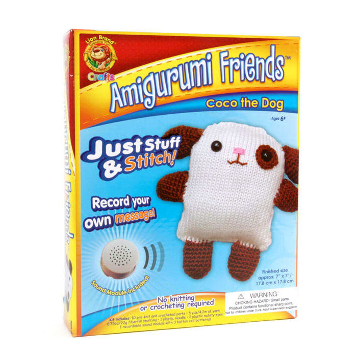 Lion Brand Amigurumi Friends With Sound Coco The Dog