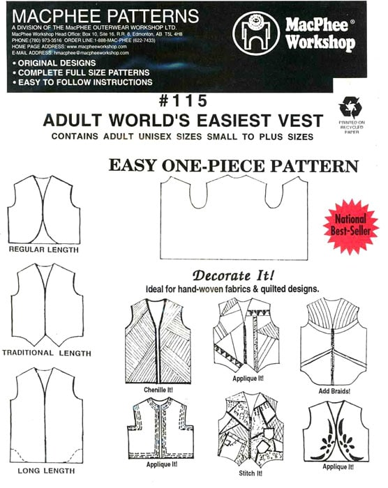 Adult World's Easiest Vest